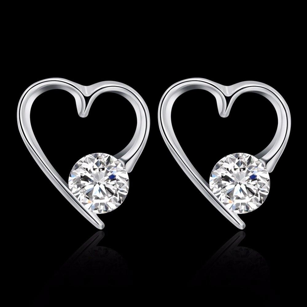 Fancy Heart Design Handmade Beautiful Jewelry Pave Zircon ...