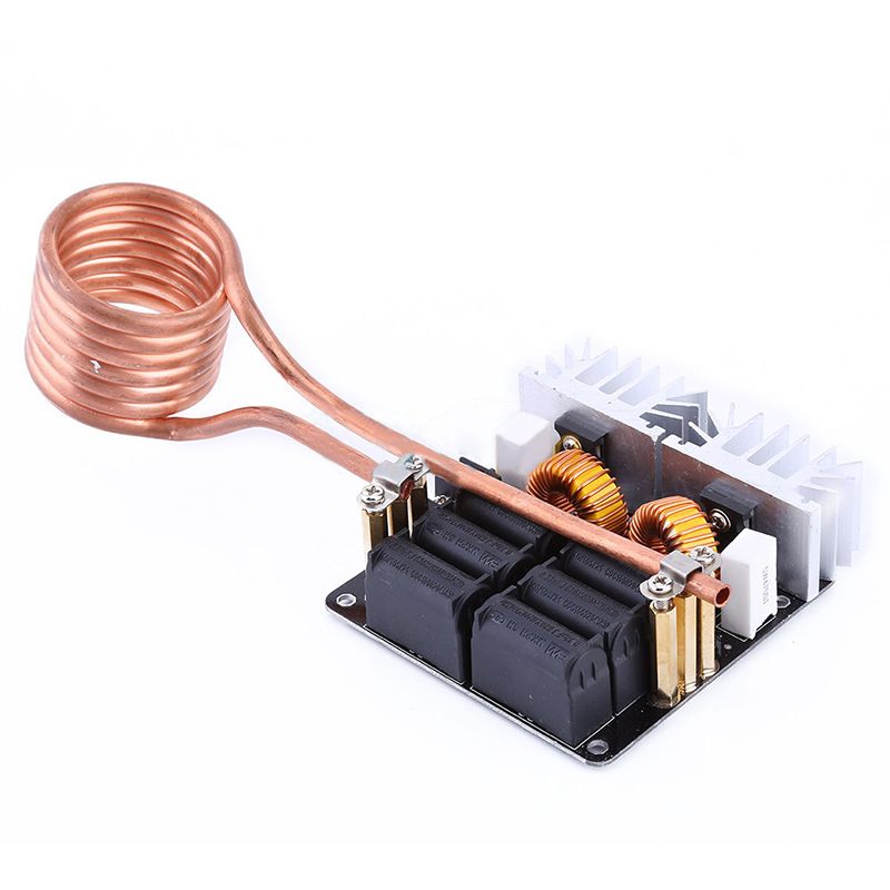 Mayitr 1pc Low Voltage Induction Heating Heater DIY Board Module with Tesla Coil 1000W ZVS dc12 36v 20a 1000w zvs induction heating module heater with cooling fan copper tube
