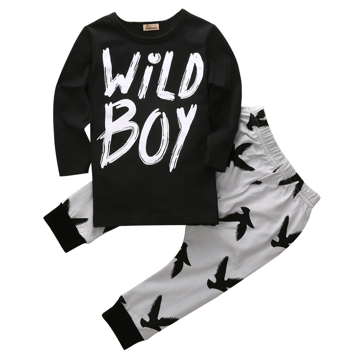 Newborn Infant Baby Boy Kids Tops +Long Pants Trousers 2PCS Outfits Set Clothes Long Sleeve Print Clothing