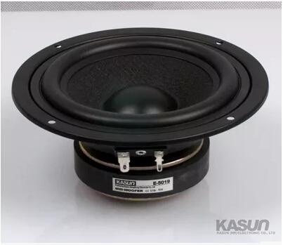 2PCS Kasun E-5019 5'' All Sealed Basket/frame Midrange Speaker Woolen Cone Mid-woofer Power Handle 70W