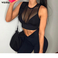 2017 Women Blouses Hot Sexy Crop Top Camis Deep V Translucent Lace Party Tank Top Casual
