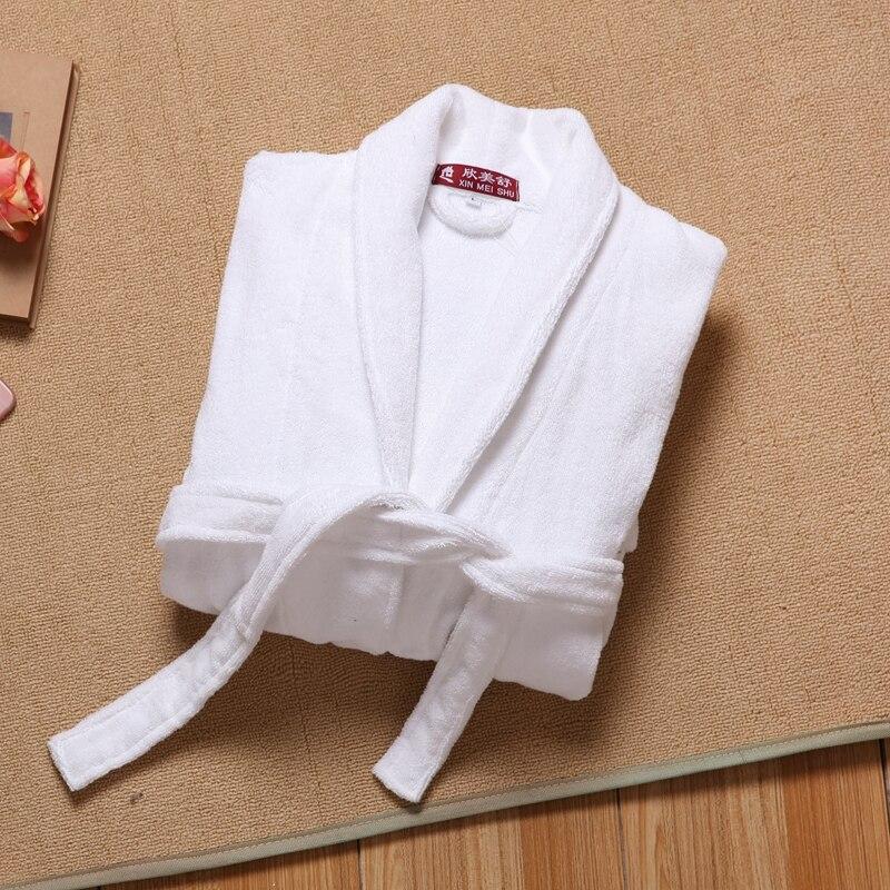 Men Robe Winter Cotton Bathrobe Thick Long Soft Robes Home Clothing Male Sleep Robe Plus Size XXL Kimono Robe Autumn White Pink
