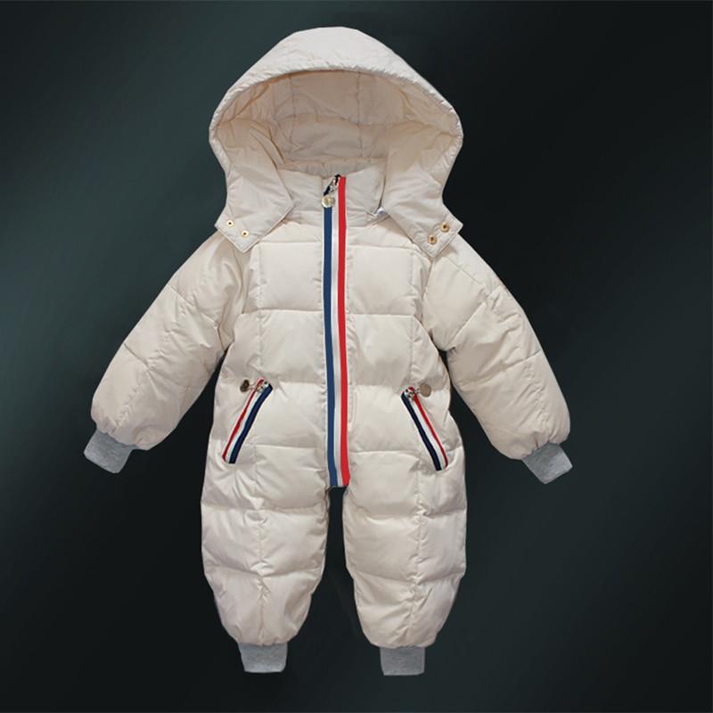 95ba5f7fbb3a Baby Snowsuit Padded Bodysuits Ski Romper Girls Boys Warm Winter ...