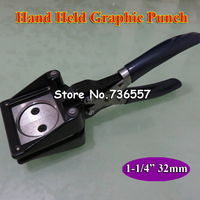 NEW Hand Held Manual Round 32mm 1 1/4 Paper Graphic Punch Die Cutter for Pro Button Maker