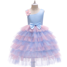 2019 Explosion Girl Mesh Gauzy Princess Dress European and American Holiday Bow Flower