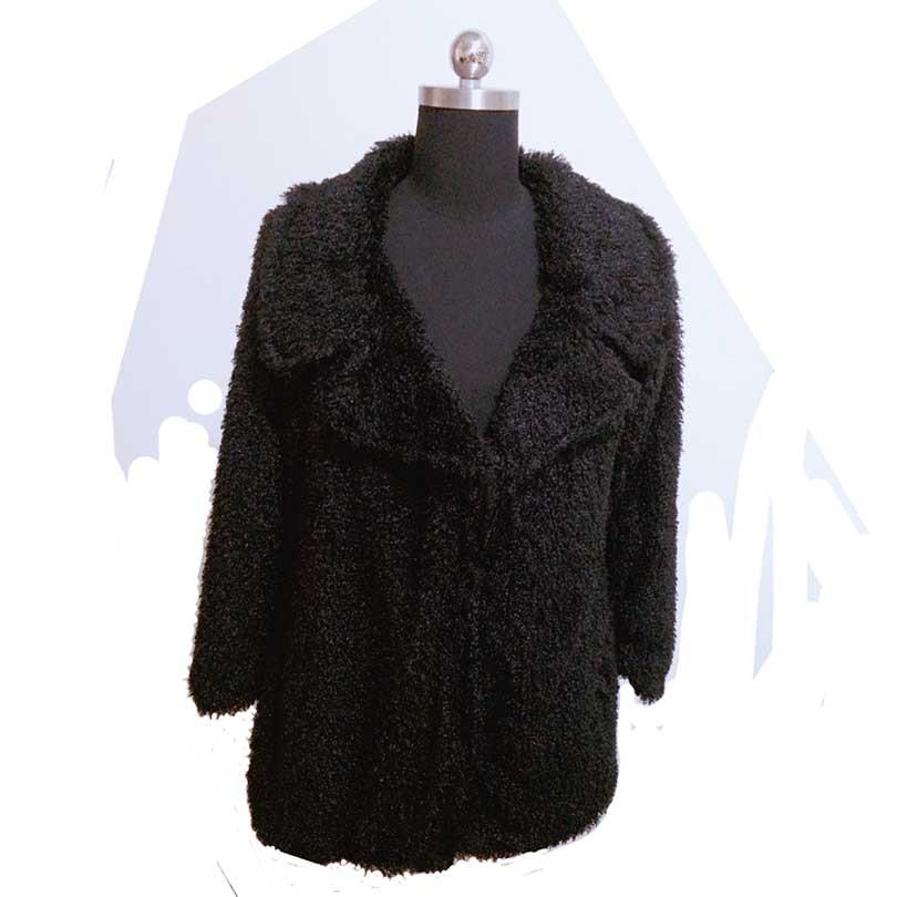 50e5ebbc205 2017 Street Style Faux fur coat women long sleeve casual winter coats black  6xl 7xl Plus Size Lamb Fur Shaggy Outwear Tops-in Wool   Blends from Women s  ...