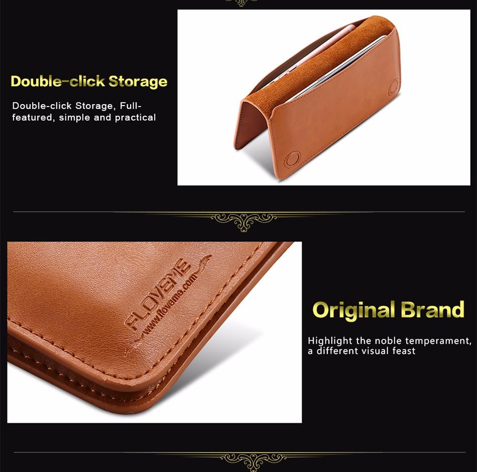 Floveme luksusowe retro skórzany portfel torby phone case do samsung s7 s6 s5 dla iphone 7 6 6 s plus se 5S 5 miękka pokrywa torebka marki 11