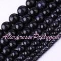 """Rodada Azul Arenito Suave Gem Stone Beads Strand 15 """"4,6, 8,10, 12,14mm Para DIY Colar Bracelat Fazer jóias, Frete Grátis"""