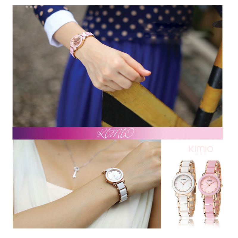 kvinnor kvarts klockor mode dam armband klockor KIMIO märke 2017 - Damklockor - Foto 2