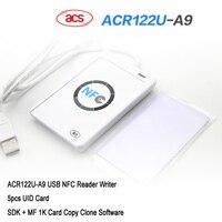 NFC ACR122U Cloner Copier Reader Writer 13 56Mhz RFID Duplicator 5pcs UID Card SDK MF 1K