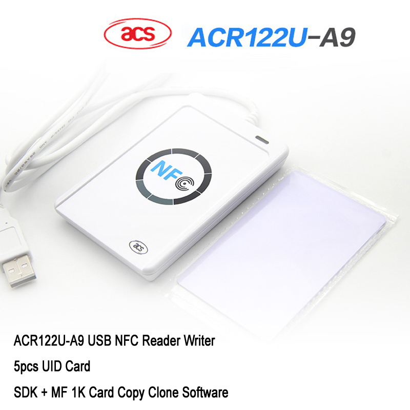 NFC ACR122U Cloner Copier Reader Writer 13.56Mhz RFID Duplicator + 5pcs UID Card + SDK + MF 1K Card Copy Clone Software