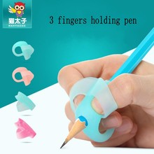 4pcs/set Magic Penci Grips Help Beginner Writing Silicone Toys Baby Double Thumb Posture Correction Pen Student Education
