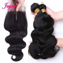 Jaycee Brazilian Hair Weave Bundles With Closure