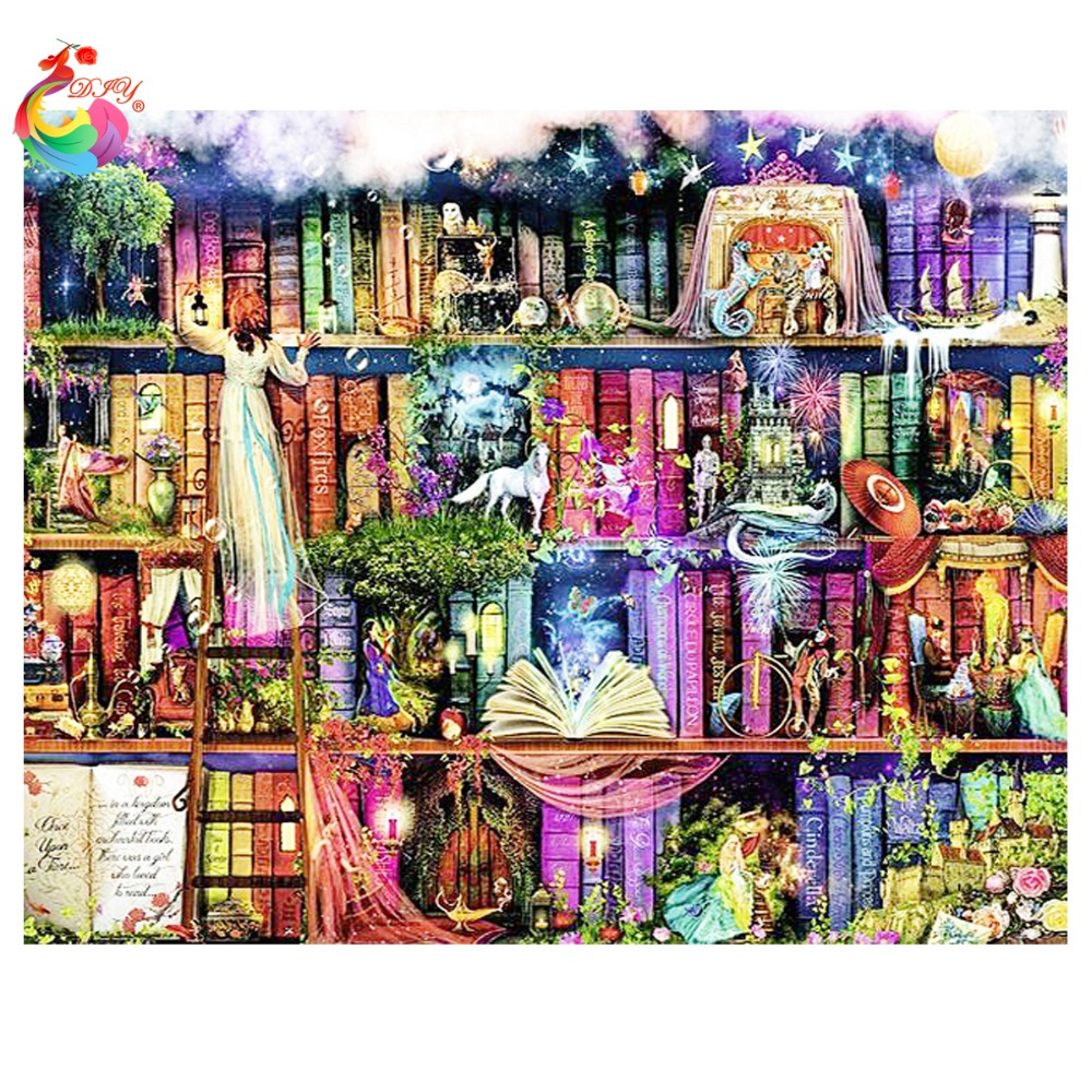 Online kopen wholesale schilderen boekenkast uit china schilderen ...