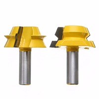 Mayitr 2pcs 1 2 Shank Wood Router Bit Durable Carbide Alloy 22 5 Degree Router Bits