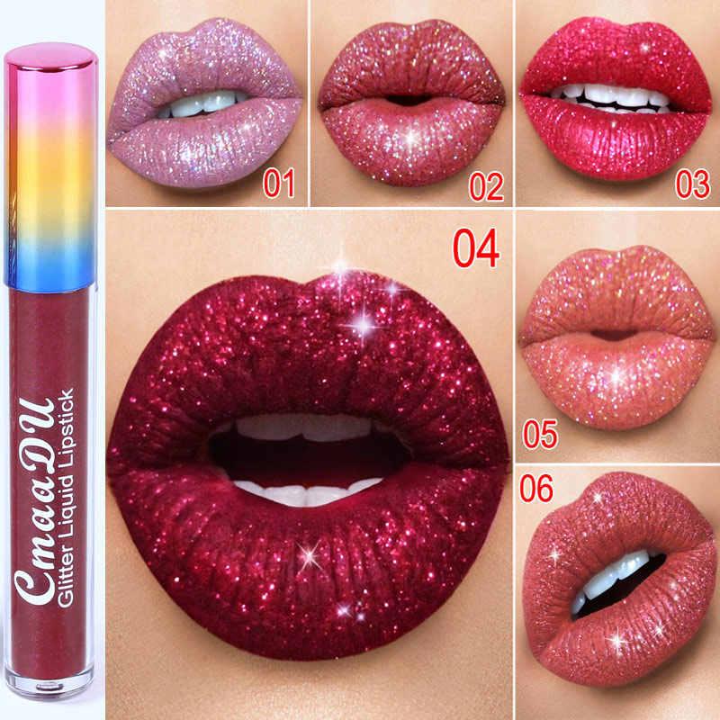 輝くリップ口紅女性化粧品 gliter メタリックダイヤモンドメイク液体口紅 MH88