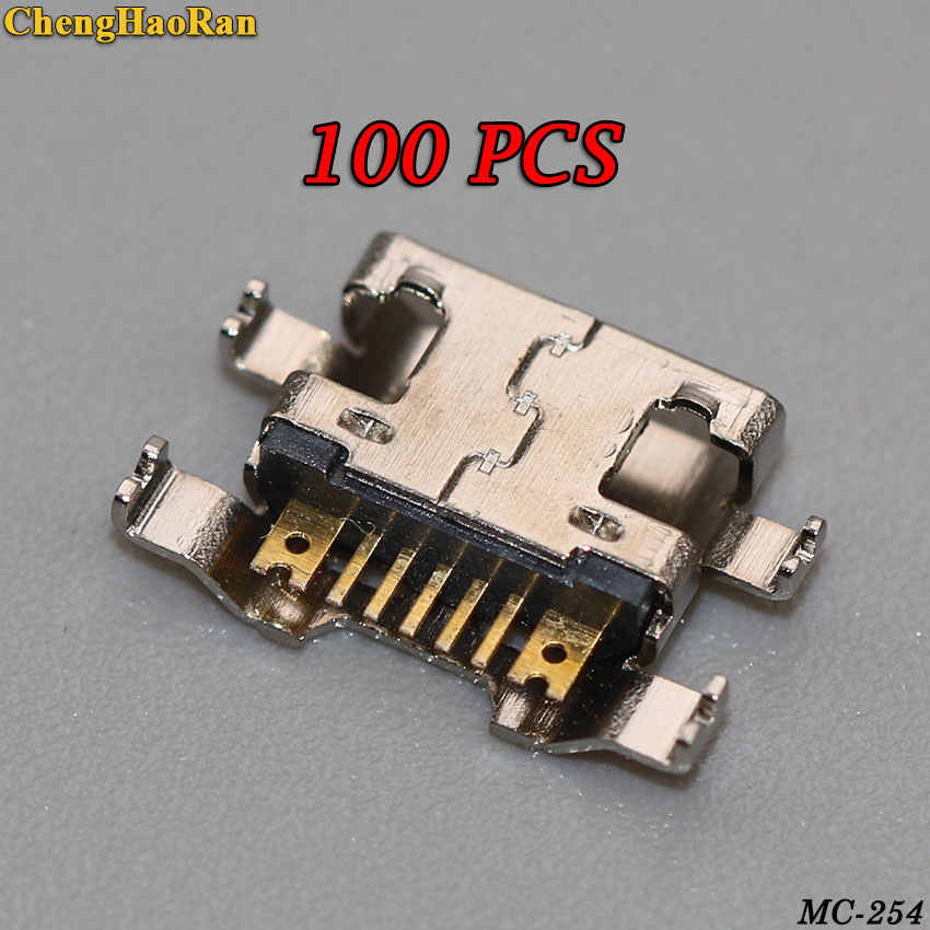 ChengHaoRan 100pcs micro mini USB Charger Charging Port For