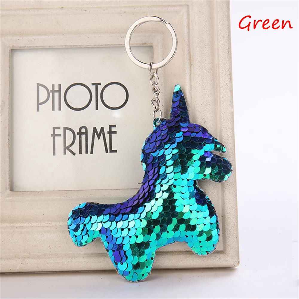 ... Cute Unicorn Keychain Glitter Pompom Sequins Key Ring Gifts for Women  Llaveros Mujer Charms Car Bag ... a5c25ee67