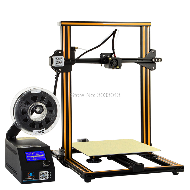 2018 CR-10 3D printer DIY Kit Large Print Size 300*300*400mm 1.75mm Reprap i3 with Hotbed +8G SD Card 200g filaments creality 3d cr 10 large size 300 300 400mm cheap 3d printer diy kit with aluminum heated borosilicate glass plate 200g filaments