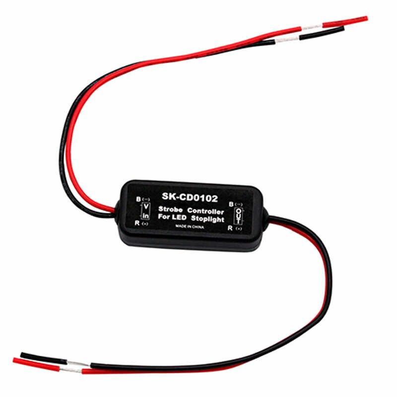 GS-100A Flash estroboscópico controlador módulo intermitente para coche LED de luz de freno 12-24V corto circuito protección CD0100/01/02