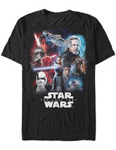 NEW NWT Star Wars Last Jedi Episode Viii Collage Carrie Fisher T-Shirt Medium Free shipping  Harajuku Tops Fashion Classic