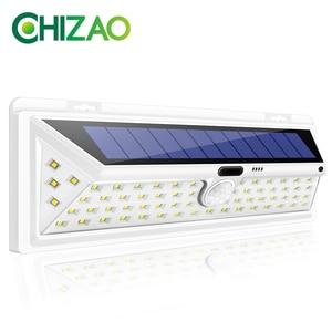 CHIZAO 66 LED Solar Lights Outdoor Motion Sensor Light Wireless Waterproof IP65 Security Solar Lamp Front Door Emergency Lights