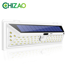 CHIZAO 66 светодиодный солнечный свет s наружный датчик движения свет беспроводной водонепроницаемый IP65 безопасность Солнечная лампа передняя дверь аварийный свет s