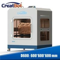 Creatbot full closed metal framework single extruder drag chain system near way feeding 3.0 mm 600*600*600 mm D600 3d printer DG