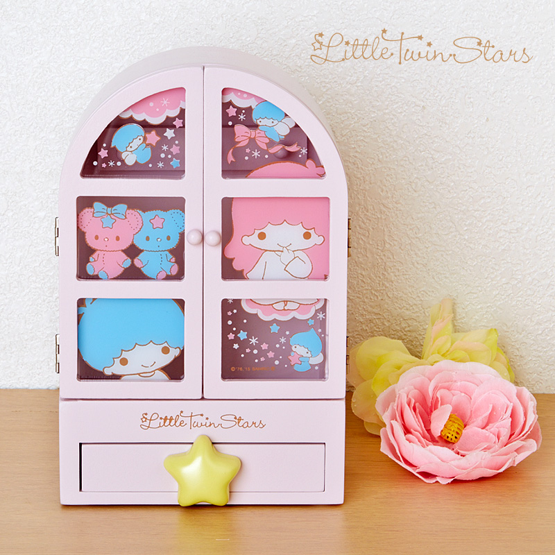 Original Japan New Cartoon My Melody Little Twin Stars Wood Box Girls Home Decoration For Dolls Kit Collection Accessoriess