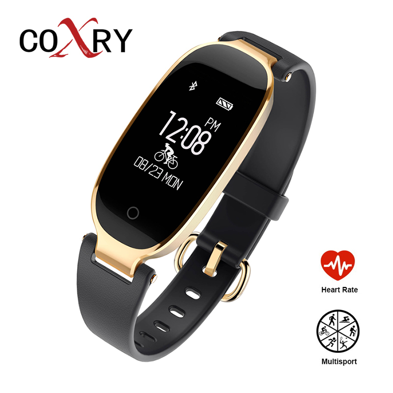 COXRY traqueur de remise en forme bande montre intelligente Femmes Ios Android montres de sport Pour Femmes Bracelet Filles moniteur de fréquence cardiaque Bracelet