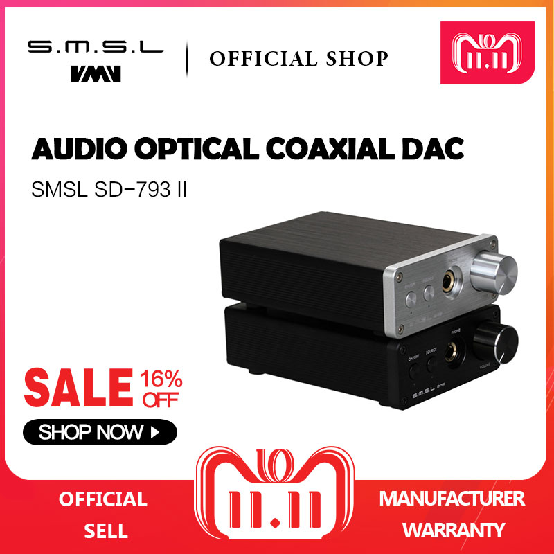 SMSL SD793-II Headphone Amplifier PCM1793 DIR9001 DAC Digital Audio Decoder Amplifier Optical Coaxial Input Black Silver smsl sd793 ii mini hifi headphone amplifier pcm1793 dir9001 dac digital audio decoder amplifier optical coaxial input 24bit