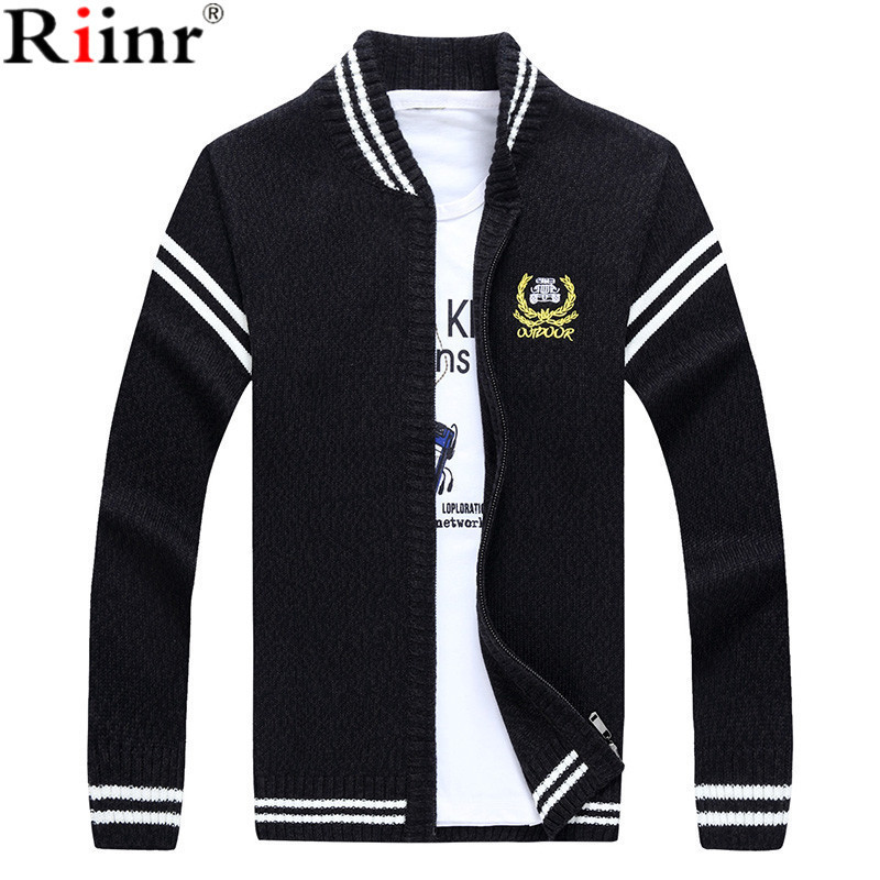 Riinr 2018 Fashion New Arrival Sweater Men High Quality Autumn Winter Warm Knit Badge Knitting Breathable Mens Crdigan Sweater ...