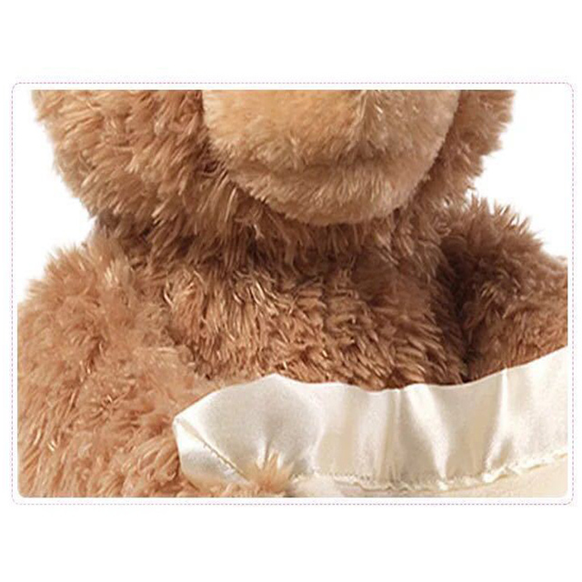 ZXZ Peek a Boo Teddy Bear Play Hide And Seek Lovely Cartoon Stuffed Kids Birthday Gift 30cm Cute Music Bear Plush Toy 2