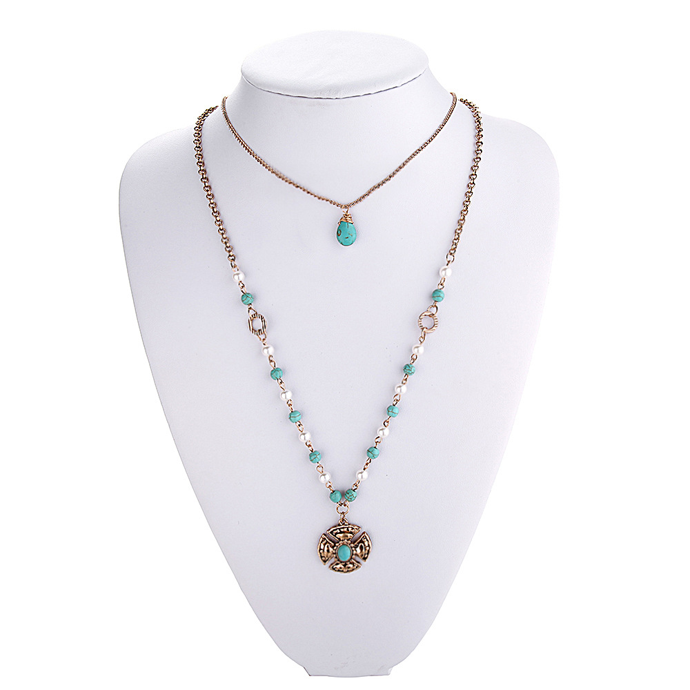 boho beaded set chic her necklace now bib dazzle products