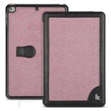 Jisoncase Microfiber Case For iPad Mini 5 Ultra Thin Stand Design Folding Folio Luxury Brand Smart Cover for iPad mini 5 Case стоимость