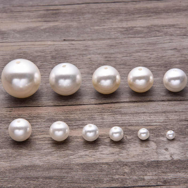 handmade pearl bead jewelry accessory jewellery finding plastic 40mm large pearl bead simulated imitation pearl jewelry findings