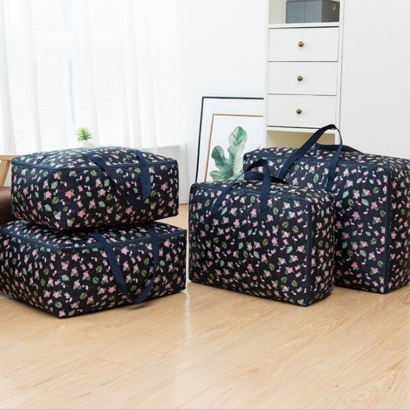 Thicken Washable Clothes Storage Bag Quilt Bag Oxford Cloth Quilt Storage Bag Moving Luggage Packing Household Storage Products