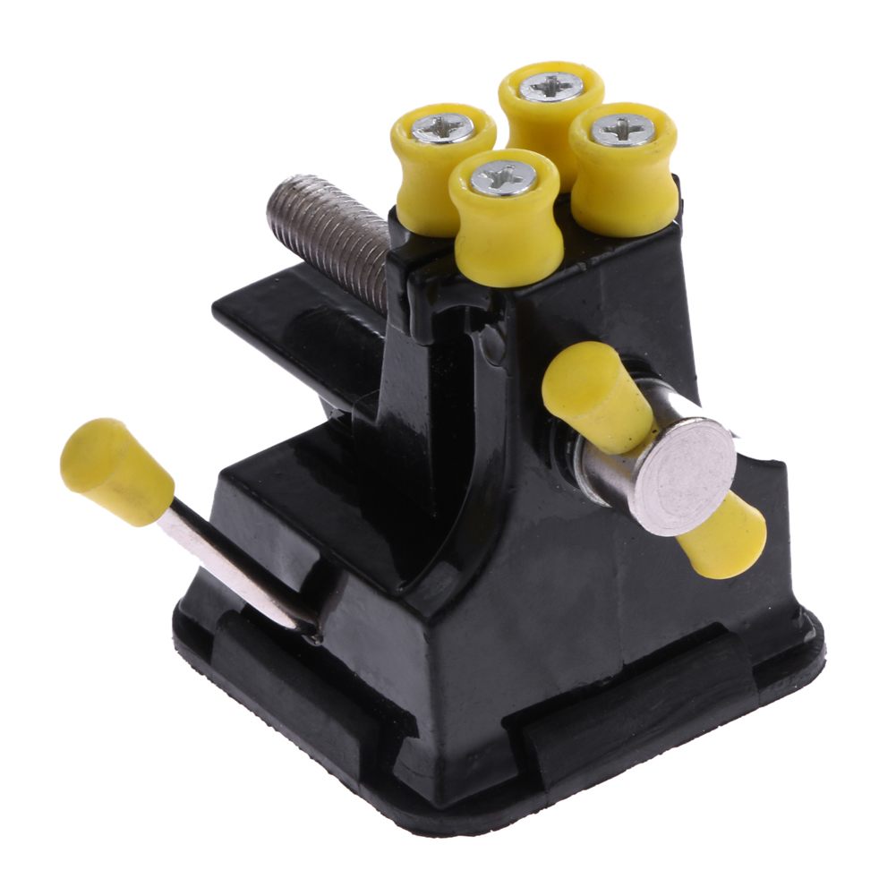 Aluminium Alloy Table Bench Walnut Clamp Engraving Grinding Polishing Vise Clamp Table Bench With Suction Cup