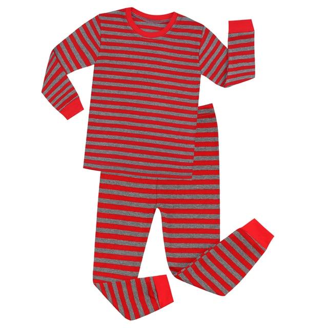 Red and Gray Striped Pajamas Kids Christmas Pajama Sets Christmas Pyjamas  Kids Baby Nightwear Stripes Pyjamas 6fb15d296