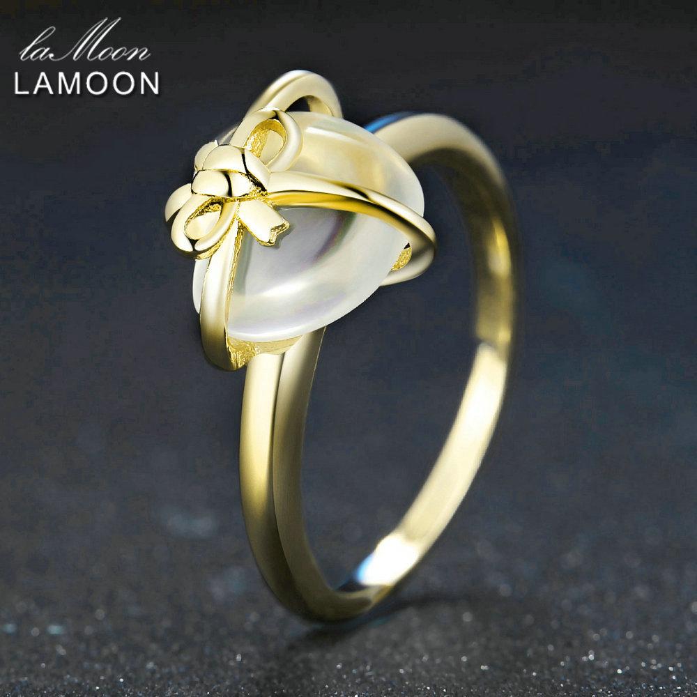LAMOON Romantické Srdce Ženy Prsteny 925 Euro Stříbrné Jemné - Šperky