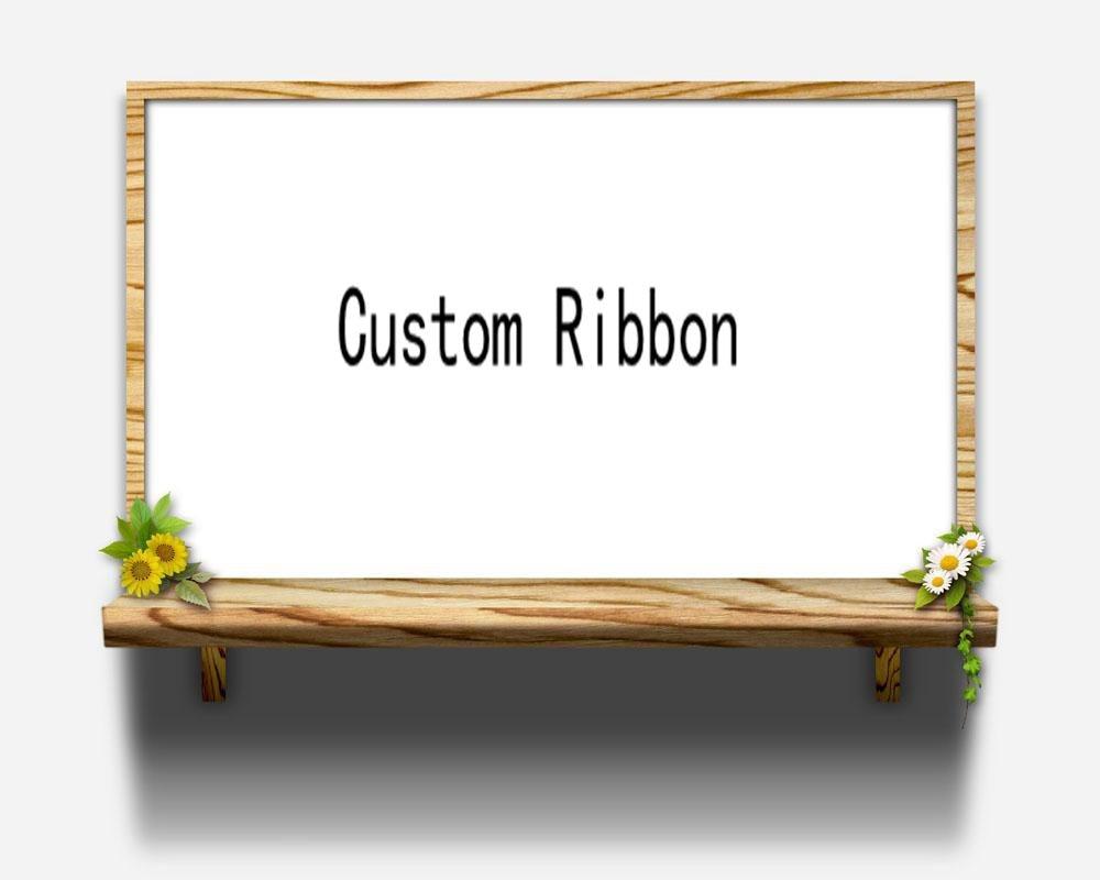 50/100 Yards Custom Ribbon Printed Grosgrain Ribbon