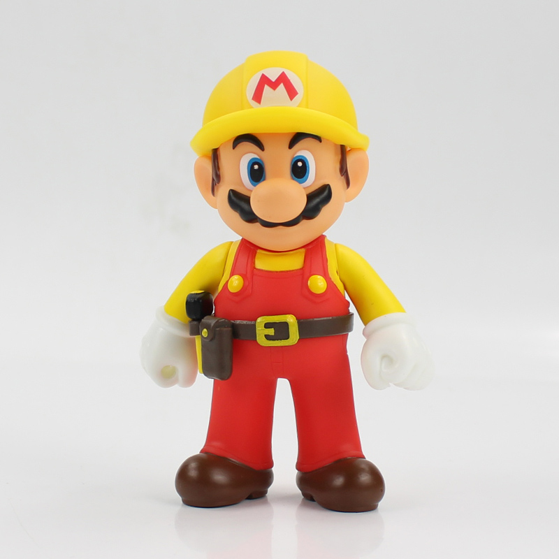 13cm The Repairman Mario Vinyl Figure Toys Super Mario Bro PVC Action Figure Toys Doll Brinquedos Kids Birthday Gifts 10