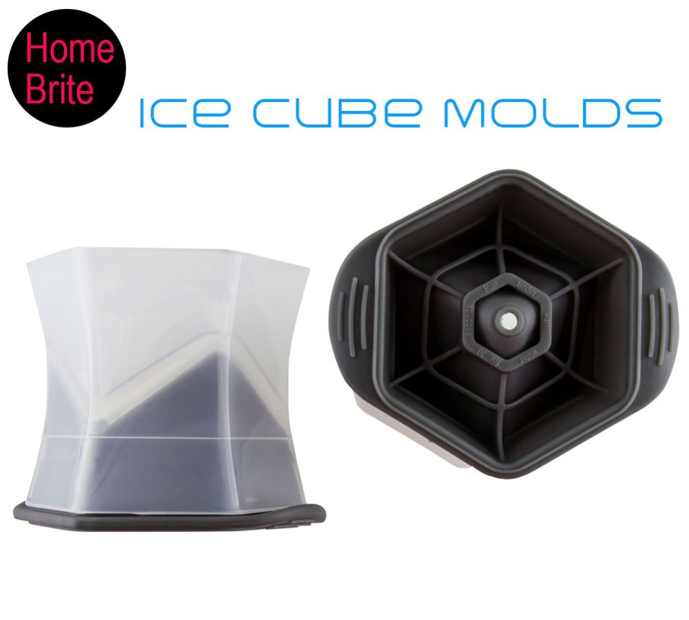 Colossal Cube Molds Ice Maker For Drink Whisky Wine,Big cube cools cocktail,BPA free,PP &Silicone Ice Tool K150