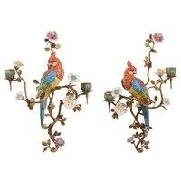 Высококлассные керамические Медный подсвечник Европейский стиль роскошные подсвечники новоселье подарок