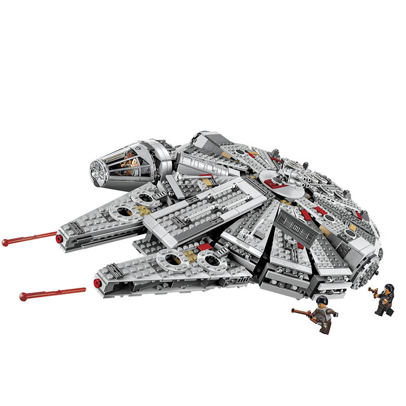 Bela Compatible Legoe giftss Star Wars Space Ship Millennium Falcon Building Blocks Bricks Toys bela building blocks guardians of the galaxy groot rocket star space war set diy bricks toy compatible with superheroes