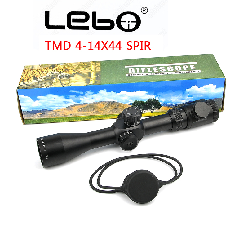 LEBO TP 4-14X44 SFIR Hunting Scope Side Parallax Glass Etched Reticle Red Illuminated  First Focal Plane Side Parallax Scope