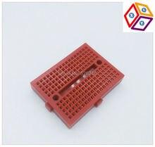 Red SYB-170 Mini Solderless Prototype Experiment Test Breadboard 170 Tie-points 35*47*8.5mm DIY Arduino ESP8266 Raspberry Pi