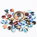 PAPAPRESS 20 unids/lote 10mm Mezclar Estilos El Universo Encantos Flotante Encantos para Glass Medallones de Vida de Cristal Redonda Dome M479