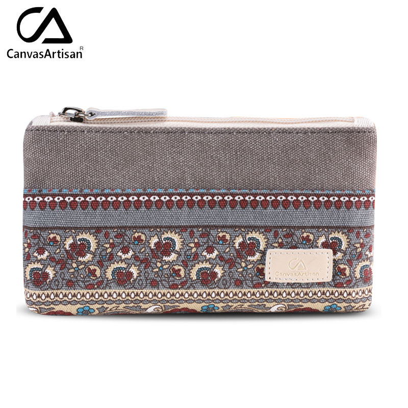 Canvasartisan dames kleine opbergzakken voor sleutelkaart telefoon portemonnee praktische canvas dagelijkse kleine tassen reisaccessoires