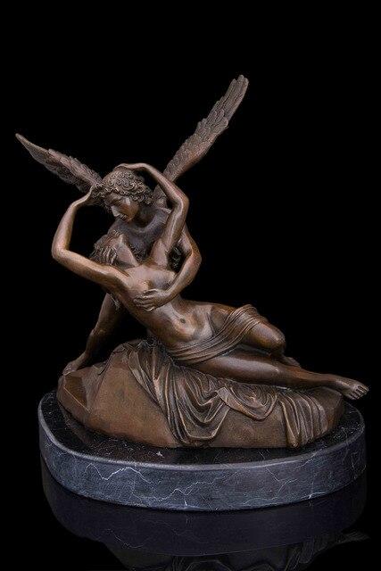 Коллекционные статуя Bronze скульптура Art Nouveau Валентина Любовь Романтика подарок IDE украшения сада 100% натуральная латунь бронза